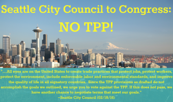 Local to National: Leadership makes moves against TPP
