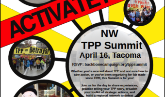 Register Today! Northwest TPP Summit, April 16