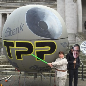 Oly- Star Wars TPP protest